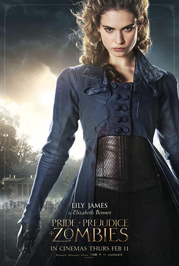 لیلی جیمز در نقش الیزابت بنت در فیلم غرور و تعصب و زامبی ها