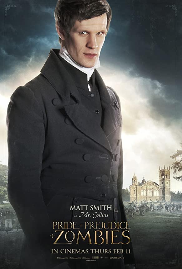 مت اسمیت در نقش کالینز در فیلم غرور و تعصب و زامبی ها