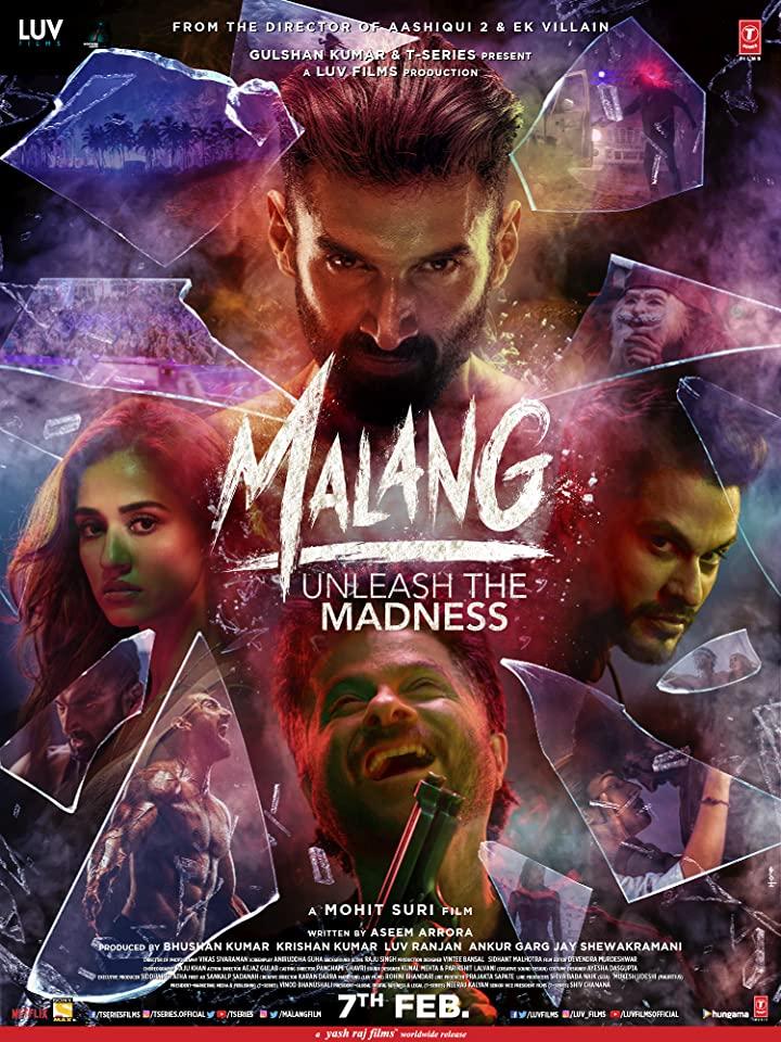 پوستر دیگه از فیلم ملنگ در مقاله ی نقد و بررسی فیلم هندی ملنگ (Malang)